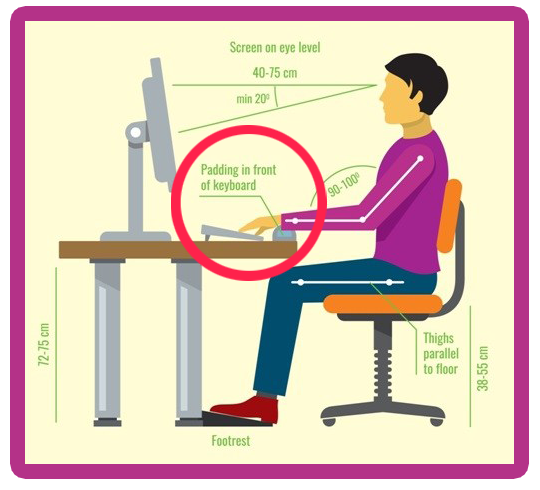 Keyboard-Position-While-Working-on-Computer